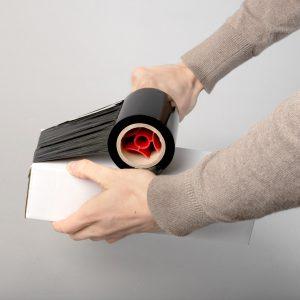 Stretch mini czarny 0,3kg x 10cm (23mic)